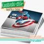Capitán América - Topper Cuadrado Para Imprimir