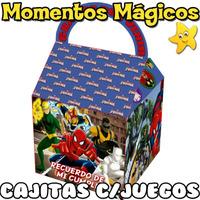 10 Cajita Souvenir Ultimate Spiderman Hombre Araña +7 Juegos