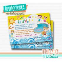 Fiesta En La Pileta - Invitación Para Imprimir