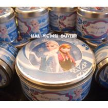 Souvenir Frozen Latas Personalizadas 7x8 Pack Por 10