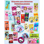 Etiquetas Autoadhesivas Personalizadas Candy Bar Cortadas