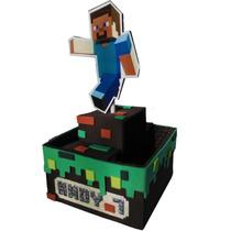 Centros De Mesa Goma Eva, Minecraft X 5 Unidades
