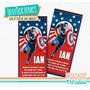 Capitán América - Tarjetita Para Imprimir