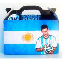 Cajita Bolsita Messi Futbol Souvenirs Infantiles Pack X100