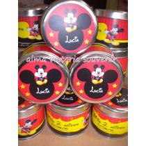 Mickey Y Minnie Latas Personalizadas 7,5 X 8 Por 10 Unidades