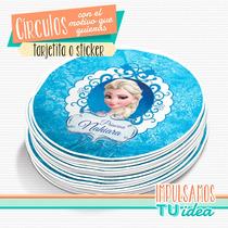 Frozen - Tarjetita Souvenir Para Imprimir