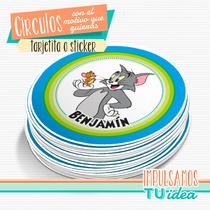 Tom Y Jerry - Círculo Multiuso Para Imprimir