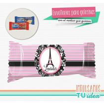 París - Envoltorio Chocolatín Para Imprimir