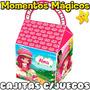 10 Cajitas Souvenir Frutillita Bolsita Golosinera + 7 Juegos