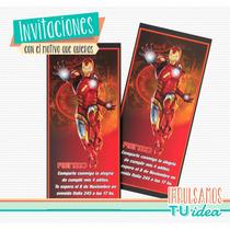 Iron Man - Tarjetita Para Imprimir