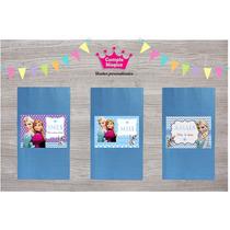 Frozen Bolsas Papel Personalizados Suvenirs Cumpleaños X 20
