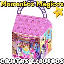 10 Cajitas Souvenirs Mi Pequeño Pony Little Pony + 7 Juegos