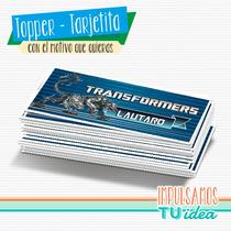 Transformers - Tarjetita Souvenir Para Imprimir