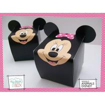 Souvenirs Eventos Cumpleaños Caja Minnie Mickey Disney