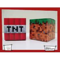 Cajas Personalizadas / Minecraft / Souvenirs / Tnt / Pasto
