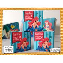 Souvenir Caja Tarjeta Invitación Personaliza Disney Sirenita