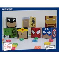Cajas Heroes Mujer Maravilla Wonder Woman Batman Souvenir Dc