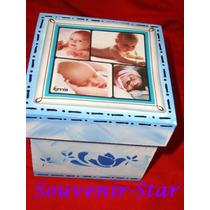 Souvenir 10 Cajas Con Foto 6x6 Cm Souvenir-star