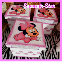 Souvenir 10 Cajas 6x6 Cm Frozen Mickey Monster High Violetta