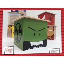 Caja Personalizada Madera 5cm2 Souvenirs Heroes Avenger Hulk