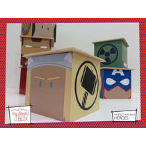 Caja Personalizada Madera 9cm2 Souvenirs Heroes Avenger Thor