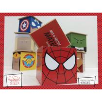 Caja Personalizada Madera 9cm2 Souvenir Spiderman Homb Araña