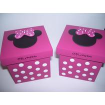 Cajitas Souvenirs Minnie!!! 8x8x8 10 Unidades