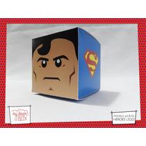 Souvenir Eventos Cumpleaños Caja Lego Heroes Superman Dc
