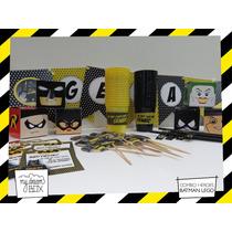 Combo Personalizado Heroes Lego Batman Dc Cumple Souvenir