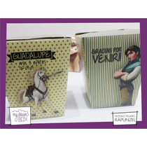 Souvenir Personalizado Cumple Caja Rapunzel Enredados Varon