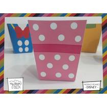 Souvenirs Caja Personalizada Disney Mickey Minnie Pochoclera