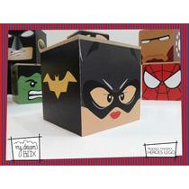 Caja Personalizada Madera 5cm2 Souvenir Heroe Lego Batichica