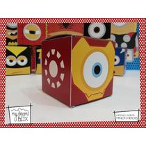 Souvenir Evento Personalizado Cajas Minions Heroes Iron Man
