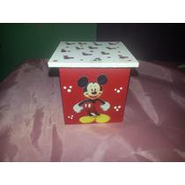 Cajitas De Souvenirs Mickey Cumpleaños Fibrofacil