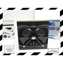 Souvenir Caja Personalizada Madera 9cm2 Star Wars Lord Vader