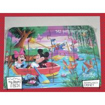Souvenir Rompecabeza Personalizad Madera 10x12 Mickey Disney