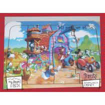 Souvenir Rompecabeza Personalizad Madera 10x10 Mickey Disney
