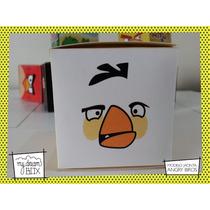 Souvenir Personalizado Evento Cumple Caja Angry Bird Blanco