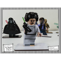 Souvenir Personaliza Madera 10cm Star Wars Pincesa Leia Lego