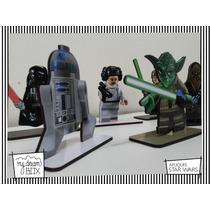 Souvenir Personalizad Madera 10cm Star Wars Arturito R2 Lego