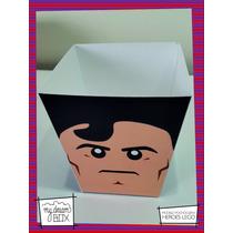 Souvenir Evento Caja Personalizada Pochoclo Lego Superman Dc
