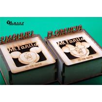 Caja Fibro Facil Personalizada 7x7x5cm Bisagra Cumpleaños