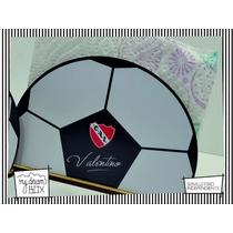 Servilletero Evento Personalizado Madera Futbol Independient