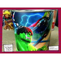 Souvenir Personalizado Alcancía Lata Evento Heroes Hulk