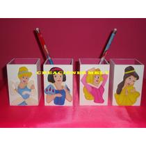 Souvenirs Lapiceros Princesas Con Aplique En Goma Eva.
