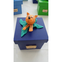 10 Souvenirs Cajas Animales Infantiles Cumpleaños, Fiestas