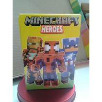 Souvenir Caja Cartas Minecraft Superheroes Personalizadas