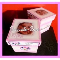 Souvenir 10 Cajas Con La Foto Personalizadas 10x10x10 Cm