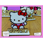 Souvenir Cumple Aplique Personalizad Madera 40cm Hello Kitty