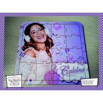 Souvenir Rompecabeza Personaliza Madera 10x12 Violetta Disne